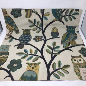 Fabric Upholstery Swatch Sample Owl Tree 26 inch
